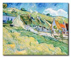 MU_VG2007 t_Van Gogh _ Cottages / Cuadro Paisaje, Casas de Campo