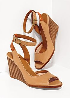 These would be great paired with a maxi skirt- neutral peep-toe wedges