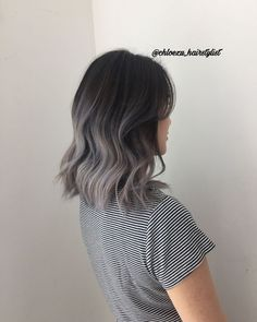 For a sexy, stylish, and simple look, try out the silver ombre hair. It will bring out elegance and sophistication while being trendy! makeup looks Silver Ombre Hair Short Hair Makeup, Short Hair Updo, Short Hair Cuts, Curly Hair Styles, Updo Hairstyle, Hairstyle Ideas, Balayage Short Hair, Blonde Hair, Balayage Hair Grey