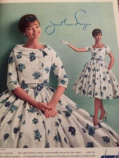 Dolores Hawkins for Jonathan Logan Vintage 1950s Dresses, Vestidos Vintage, Retro Dress, Vintage Outfits, Fifties Fashion, Retro Fashion, Vintage Fashion, Look Retro, Retro Mode