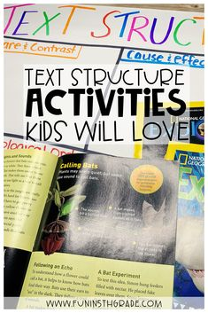 Looking for some fun and engaging activities to teach text structure?  Learn great ways to introduce