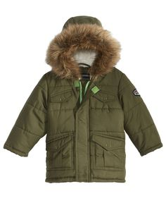 S. Rothschild Hooded Puffer Coat With Faux-Fur Trim, Baby Boys (0-24 months)
