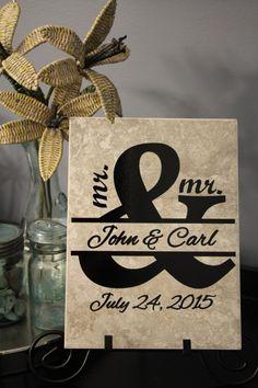 A personal favorite from my Etsy shop https://www.etsy.com/listing/286255735/mr-mr-mr-mr-lesbian-wedding-gay-wedding
