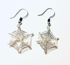 Excited to share this item from my shop: Silver Wire Spiderweb Earrings Halloween Earrings Gold Bar Earrings, Unique Earrings, Crystal Earrings, Dangle Earrings, Halloween Earrings, Halloween Jewelry, Minimalist Earrings, Minimalist Jewelry, Star Jewelry