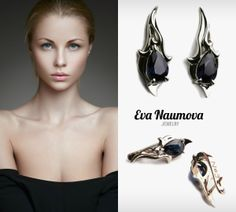 Blue drop earrings белое золото, сапфир http://evanaumova.ru/blue-drop-earrings