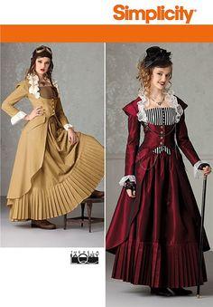 8898290f1fb5 Patron de costume robe historique - Simplicity 7532 - Rascol Robe  Steampunk, Robe Victorienne,