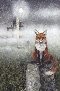 Illustrations, Illustration Art, Art Fox, Watercolor Fox, Iowa, Fox Print, Online Art, Buy Art, Fantasy Art