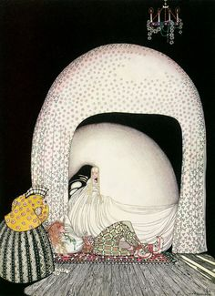 "Kay Nielsen From ""The Widow's Son"" (""And this time she whisked off the wig ... ""), 1914."