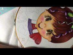Pintura En Tela Niña Navidad # 3 Con Cony - YouTube