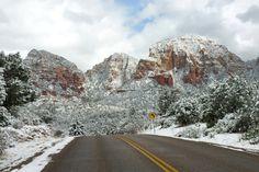 Sedona Snowfall by photographer David Sunfellow.