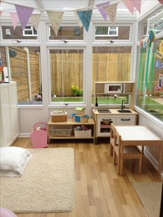 Conservatory converted into a playroom sunroom playroom, small playroom, conservatory playroom ideas, playroom Sunroom Playroom, Small Playroom, Playroom Design, Playroom Decor, Conservatory Playroom Ideas, Sunroom Ideas, Sunroom Decorating, Small Conservatory, Small Sunroom