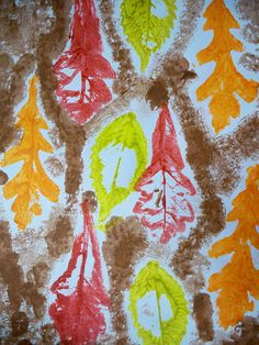 we heart art: Fall Leaf Stamping