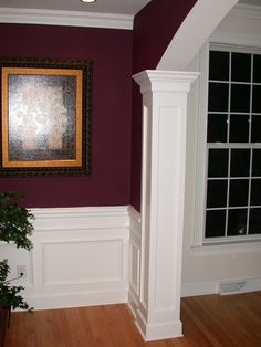 Dining Room With Custom Millwork Archway Chair Rail And Panel