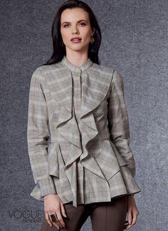 Vogue Patterns, Blouse Patterns, Sewing Patterns, Silk Taffeta, Bias Tape, Fall Collections, Fall Wardrobe, Top Pattern, Autumn Fashion