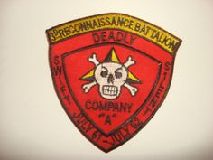 """Company """"A"""" 3rd RECON Battalion 3rd Marine Division Patch ~ Vietnam War"""