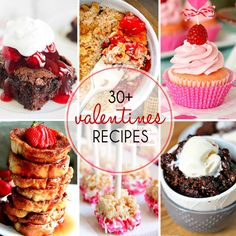 A marvelous round up of 30+ Valentine's Day Recipes | Perfect sweets for your holiday!!! from thatskinnychickcanbake.com @lizzydo