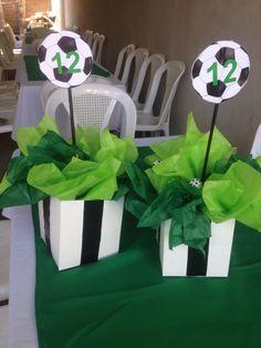 Centerpiece soccer/ número para la mesa