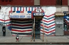 Abandoned barbershop in Spanish Harlem