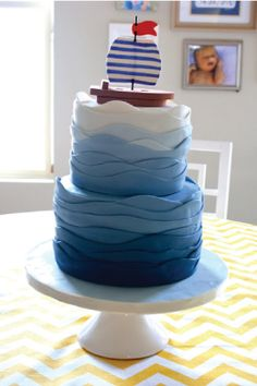 sail boat cake. was this meant for my birthday or a little boy's?