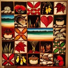 Dave Sotogi Art work ~ NZ Art beautiful inspiration for a class quilt for class unity project at start of the year.