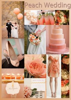 Just Bee Fashion: Peach Wedding Inspiration