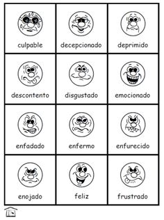 Los Sentimientos:  Feelings in Spanish -- printable poster and flashcards set -- FREE and easy to download at FransFreebies.com