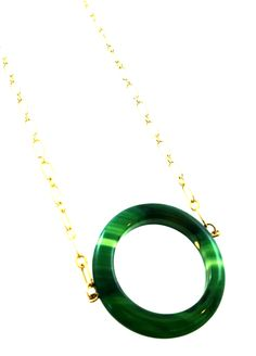 green agate necklace