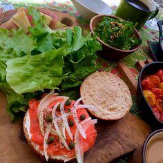 Today's yoga & healthy meal class@my home/本日のyoga&ゆるベジ食クラス@自宅③Nampla dressing salad of cresson & almond/クレソンとアーモンドのナンプラー・ドレッシングサラダ