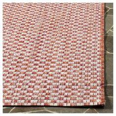 "Tabatha Indoor/Outdoor Rug - Rust (Red) / Light Gray - 6'-7"" X 6'-7"" Square - Safavieh"