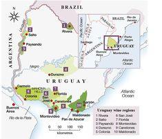 Uruguay's main wine regions