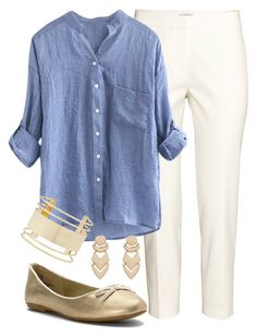 """""""Teacher Outfits on a Teacher's Budget 176"""" by allij28 ❤ liked on Polyvore featuring H&M, MIA, New Look and Eloquii"""