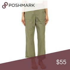 Levi's utility chino pants green 32 nwt Take workwear cool from the garage to the high street with the vintage cool of the Utility Chino. SKU: 8692655 Mid-rise pants feature a loose, slouchy fit designed to be worn low at the hips. Wide, relaxed fit runs straight through the leg. Porkchop pockets and washed twill  call back to classic utilitarian style. Belt-loop waistband. Zip fly and button closure. Patch hand pockets. Button-flap back pockets. Tacked roll-up cuffs. 100% cotton. Machine…