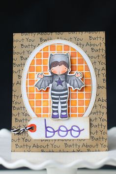 Batty About You stamp set and Die-namics, Geek Is Chic, Pierced Oval STAX Die-namics, Tag Talk Die-namics, Trick or Treat Die-namics, Small Checkerboard Stencil - Elena Roussakis