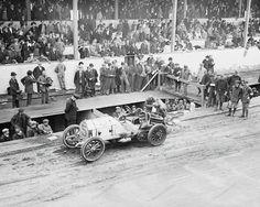 Vanderbilt Cup Antique Auto Race 1908 Vintage 8x10 Reprint Of Old Photo