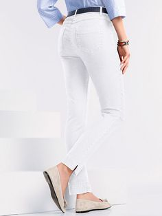 Knöchellange Schlupf-Jeggings Jeggings, Hahn, Trends, Capri Pants, Fashion, Stretching, Cotton, Moda, Capri Trousers