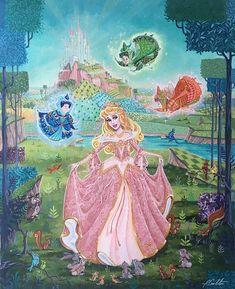 Disney Princess Aurora, Disney Princesses And Princes, Disney Day, Cute Disney, Disney Pins, Disney Concept Art, Disney Fan Art, Disney Artwork, Sleeping Beauty