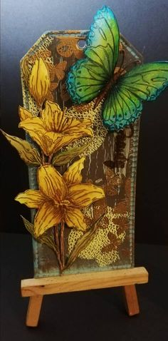 Created by Pamela Stewart using Sheena Douglass Perfect Partners Contemporary Tags die with Blooming Lilies and Butterfly Beauty Stamps and Dies. Partner Cards, Sheena Douglass, Embossing Machine, Crafters Companion, Card Tags, Art Forms, Card Ideas, Projects To Try, Bloom