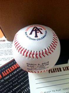 Baseball-Inspired Bar Mitzvah Invitations by PS Paper via Oh So Beautiful Paper (5)