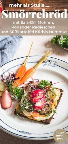 Smørrebrød / Smörrebröd Rezept vegan und üppig belegt. Mit eingelegtem Gemüse einfach selbst gemacht. Besser als belegte Brote. Der perfekte Snack zum Lunch ! #Smørrebrød vegan  #happymoodfood