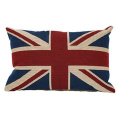 Union Jack Tapestry Cushion 18x13 inch