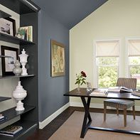 Ordinaire Boldly Accented Home Office   Normandy Blue. I Want This In My Dining Room  Office
