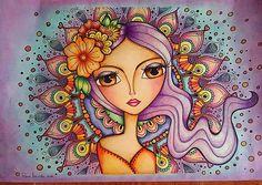 Después de ver tantas obras hermosas en el Taller de Color Terapia, no pude contener mis ganas de pintar y aquí esta la obra terminada. Gracias @romi_lerda_art , tus mujercitas revolucionaron mi corazón. Te quiero 🌈💖✨  #colortherapy #coloringsecrets #colour #painting #colorterapia #cromo #cromoterapia #romilerdart #mujeresdelmundo #mujeresdelzodiaco #art #artofcolors #arte #arteterapia #arttherapy #argentine #argentina #couloringbook #colouring_masterpieces Colorful Drawings, Art Drawings, Abstract Face Art, Mini Canvas Art, Princess Drawings, Popular Art, Pen Art, Whimsical Art, Fabric Painting
