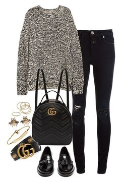 """Sem título #1453"" by manoella-f on Polyvore featuring moda, Closed, H&M, Yves Saint Laurent, Gucci, MICHAEL Michael Kors, Luna Skye e ABS by Allen Schwartz"