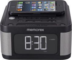 Memorex - Alarm Clock Radio - Black - Larger Front