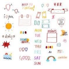 Cute Notes, Good Notes, Memo Notepad, Note Doodles, Aesthetic Stickers, Note Paper, Sticky Notes, Cute Stickers, Sticker Design