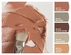 Paint colors from ColorSnap by Sherwin-Williams Orange Paint Colors, Warm Paint Colors, Bedroom Paint Colors, Paint Colors For Home, Room Colors, Wall Colors, House Colors, Rustic Paint Colors, Beige Paint