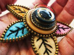 Boho earrings, Boho jewelry and Button earrings on Pinterest