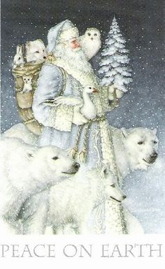 Season's Greetings: Winter Solstice, Yule, and Christmas Christmas Scenes, Christmas Past, Father Christmas, Blue Christmas, Christmas Pictures, Christmas Greetings, Winter Christmas, Polar Bear Christmas, Country Christmas