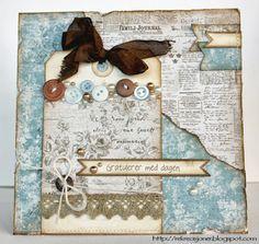 {Re}kreasjoner - Tag card with Maja Design papers