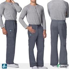 5fa097ce1ab Adar Medical 3107 - Pop Stretch Men's 7-Pocket Cargo Scrub Pants at Scrubs.